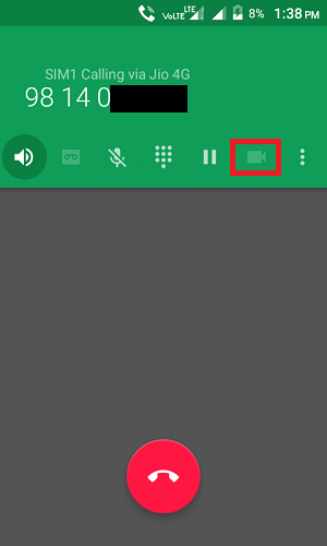 convert voice to video call